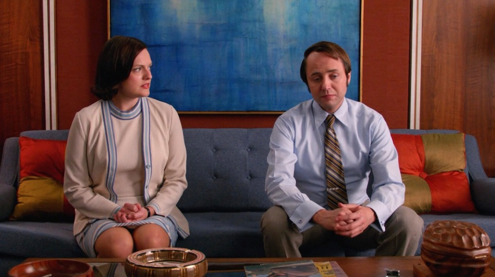Peggy (Elisabeth Moss) and Pete (Vincent Kartheiser) in Time & Life