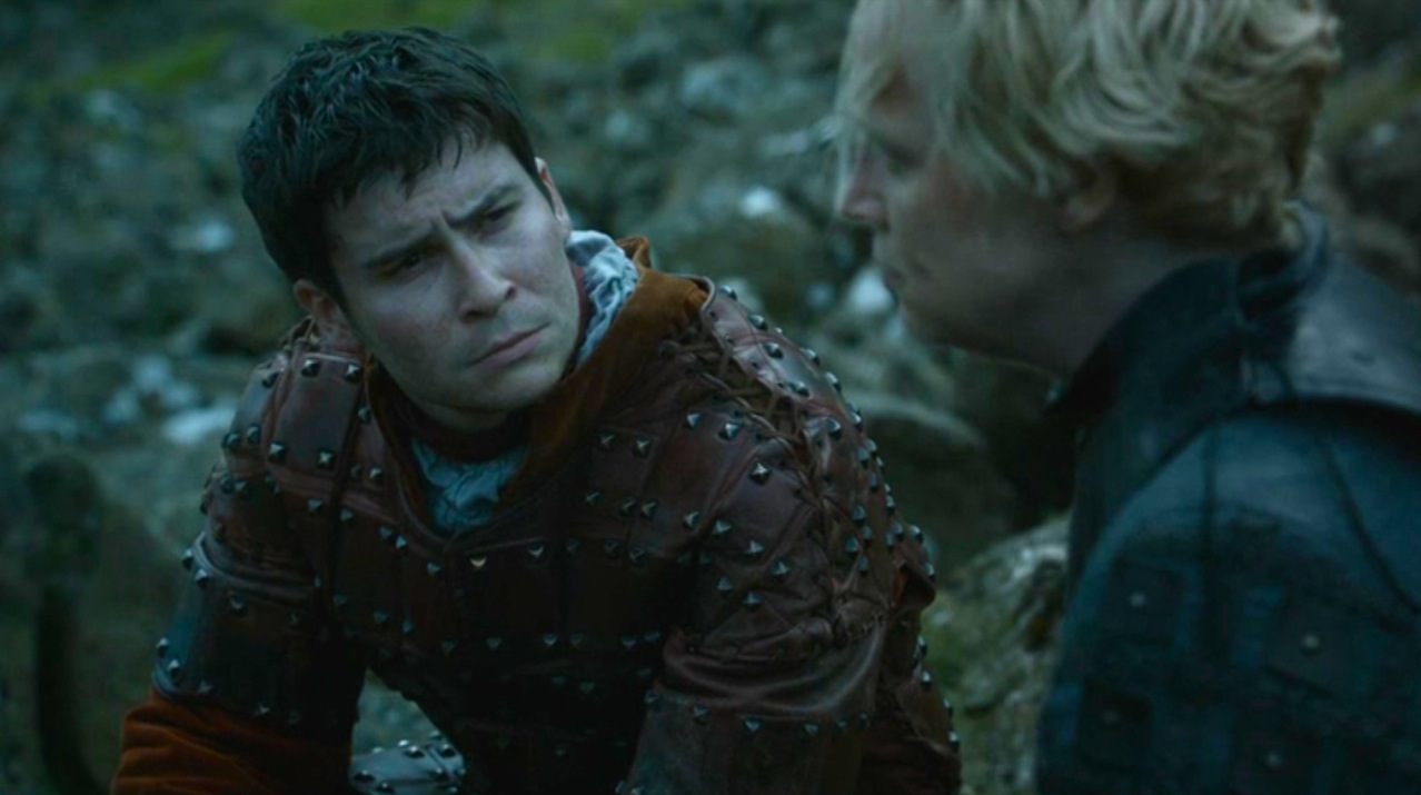 Podrick (Daniel Portman) and Brienne (Gwendoline Christie) in High Sparrow