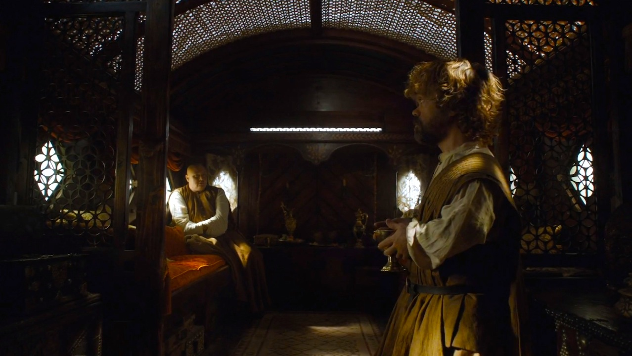 Varys (Conleth Hill) and Tyrion (Peter Dinklage)