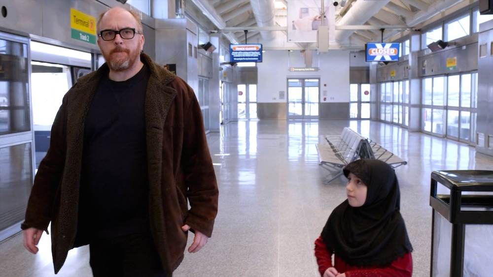 Louis CK and Laurel Griggs in The Road