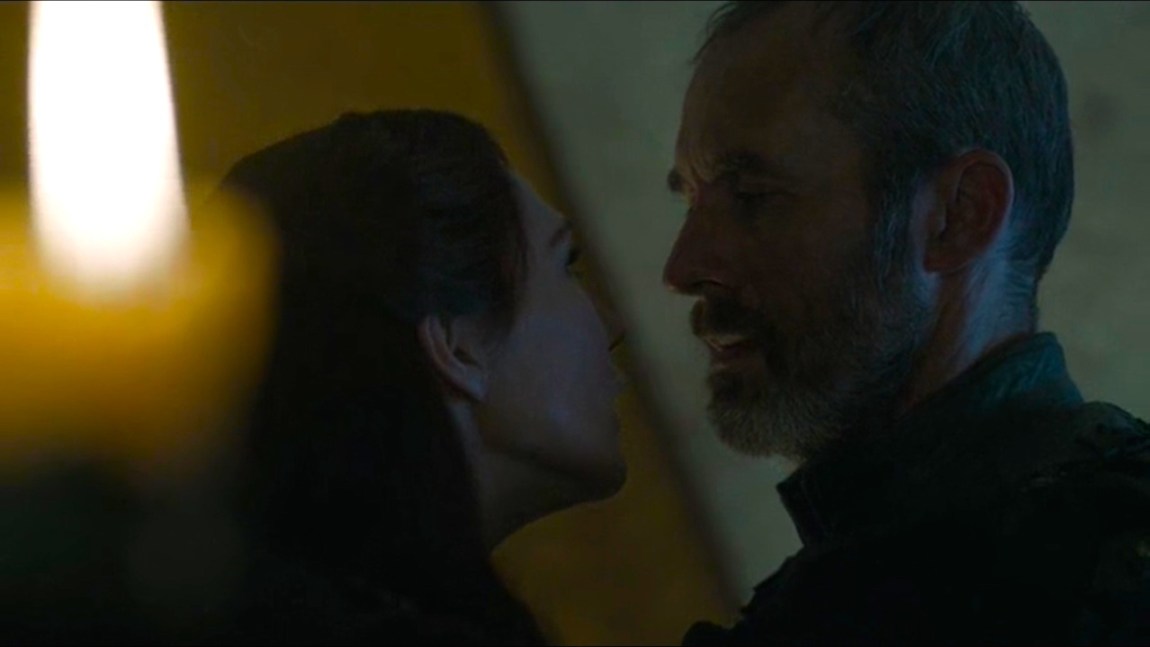 Melisandre (Carice Van Houten) and Stannis (Stephen Dillane) in The Gift