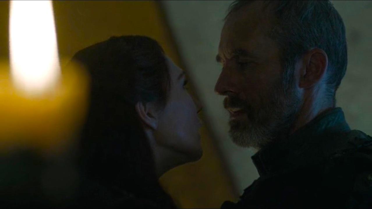 Melisandre (Carice Van Houten) and Stannis (Stephen Dillane) in The Gift