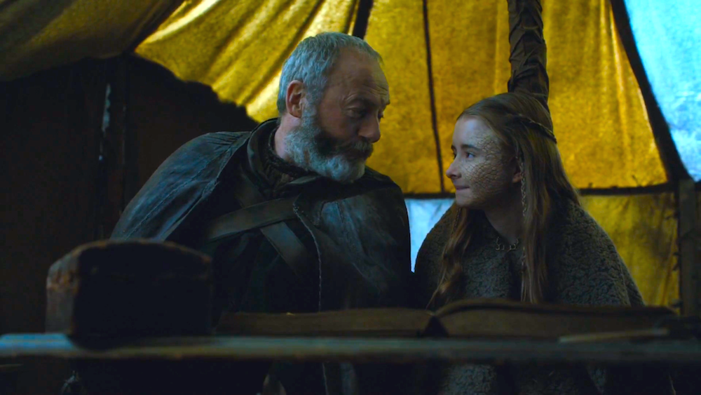 Davos (Liam Cunningham) and Shireen (Kerry Ingram) in The Dance of Dragons