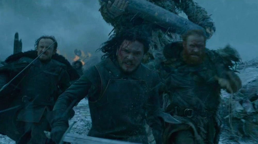 Ed, Jon Snow, Tormund, and Friend in Hardhome