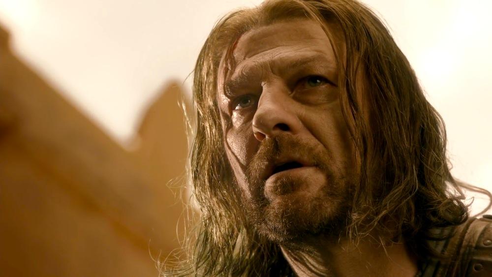 Eddard Stark (Sean Bean) in Baelor