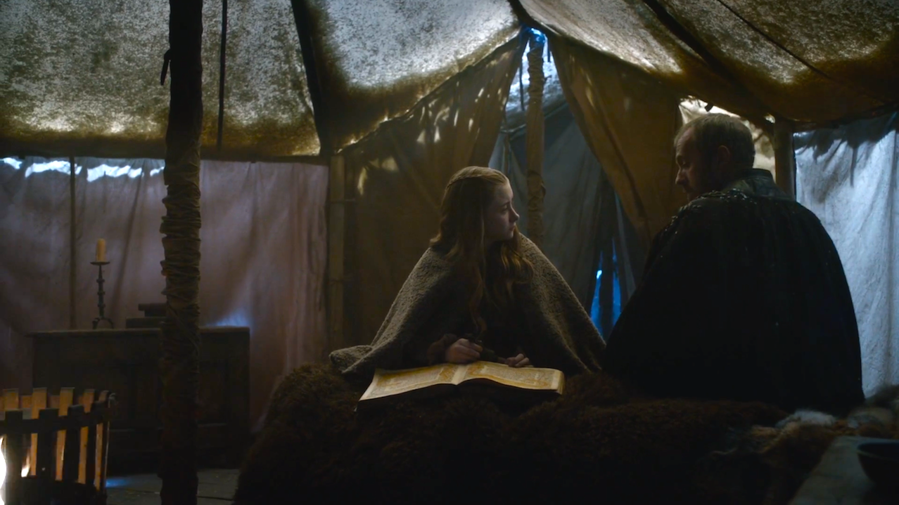 Shireen (Kerry Ingram) and Stannis (Stephen Dillane) in The Dance of Dragons