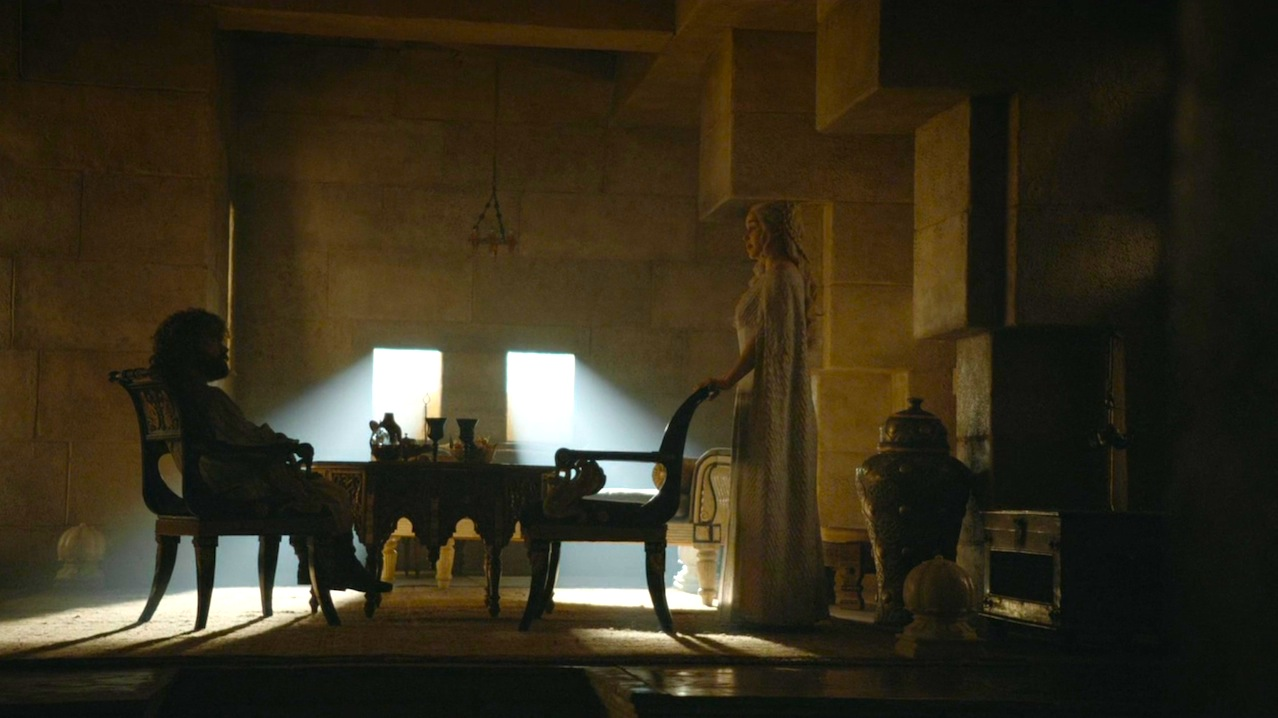Tyrion (Peter Dinklage) and Daenerys (Emilia Clarke) in Hardhome