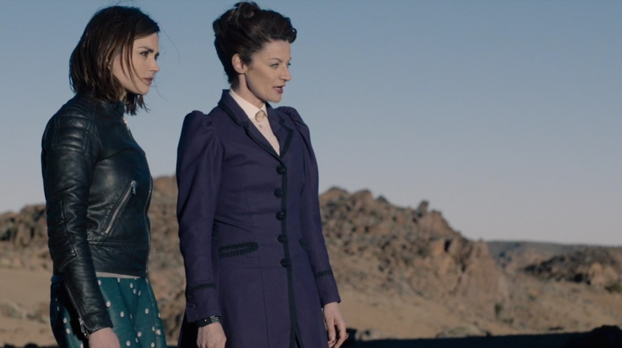 Clara (Jenna Coleman) and Missy (Michelle Gomez) in The Witch's Familiar