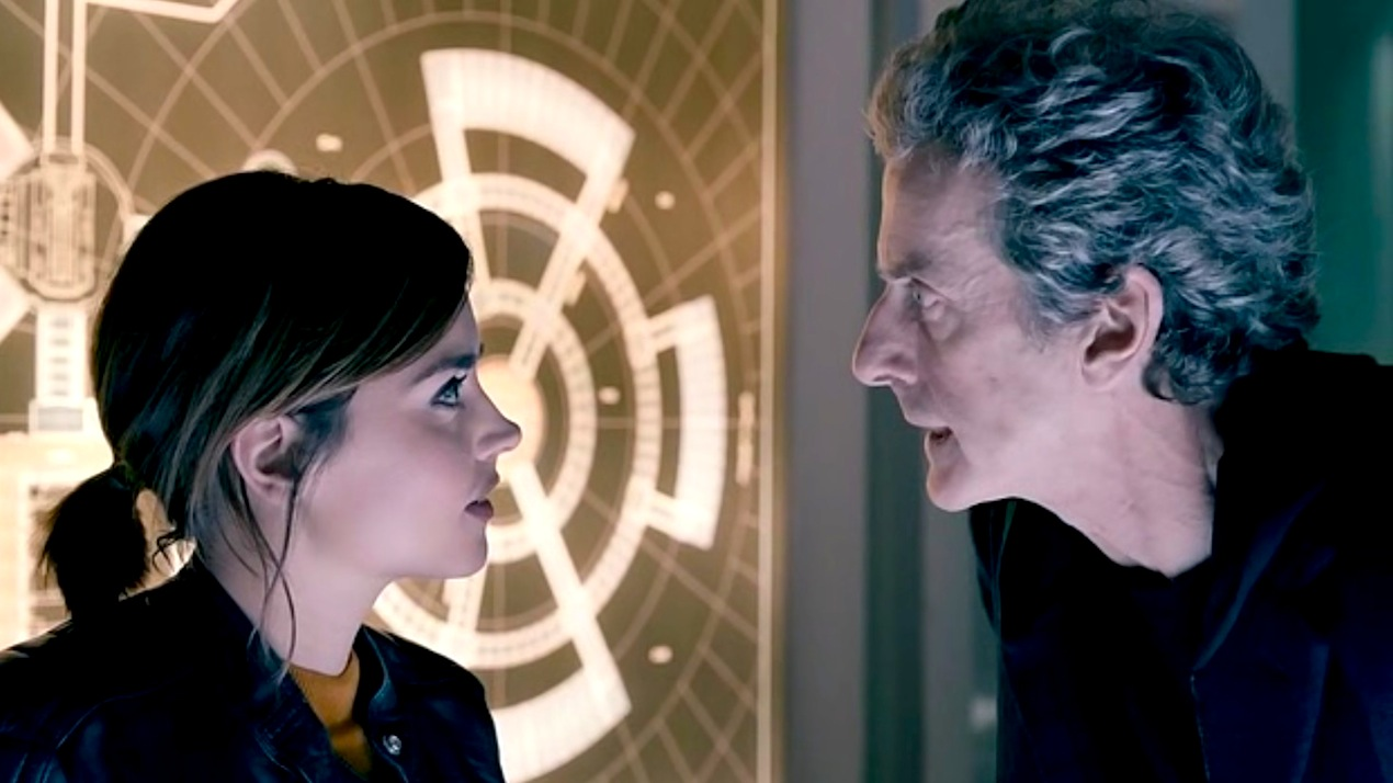 Clara (Jenna Coleman) and the Doctor (Peter Capaldi) in Under the Lake