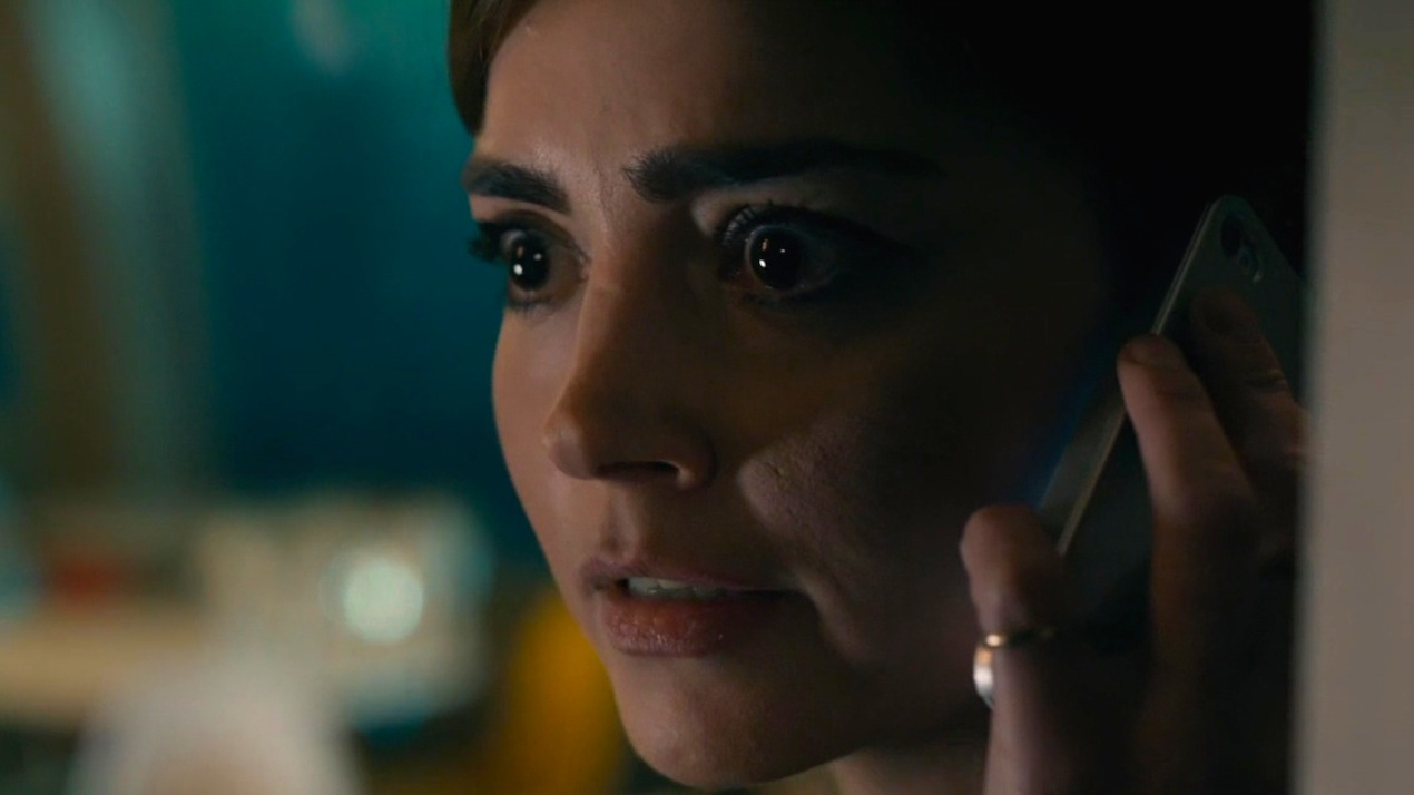Clara (Jenna Coleman) in Before the Flood