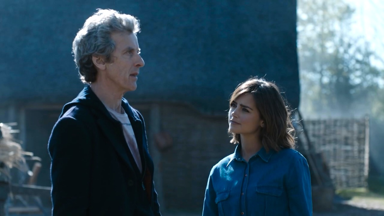The Doctor (Peter Capaldi) and Clara (Jenna Coleman) in The Girl Who Died