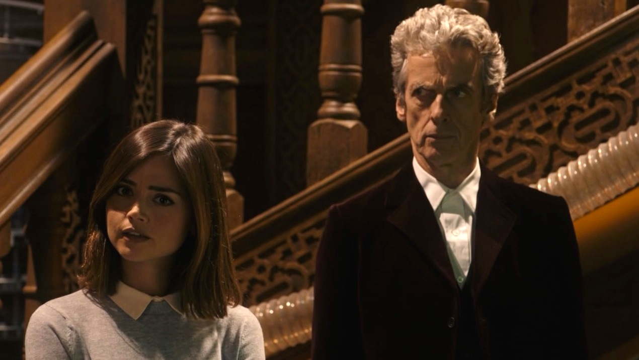 Clara (Jenna Coleman) and the Doctor (Peter Capaldi) in Face the Raven