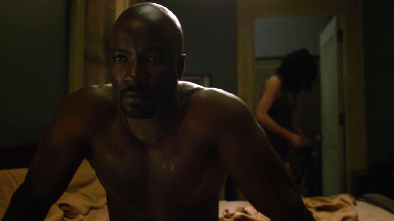 Mike Colter and Krysten Ritter in AKA Ladies Night