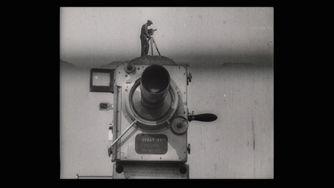 First Shot of Man with a Movie Camera