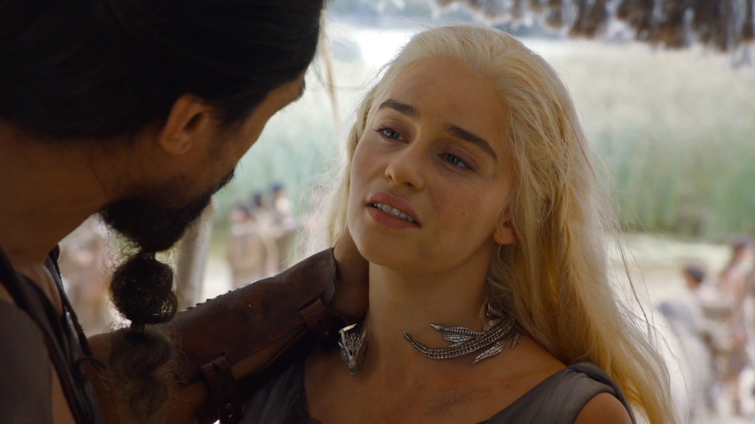 Khal Moro and Daenerys Targaryen