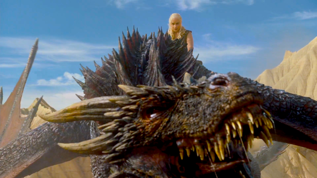 Daenerys (Emilia Clarke) and Drogon in GOT 6x06