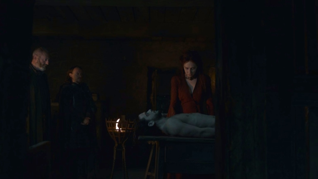 Davos, Ed, Melisandre, and the Late Jon Snow in GOT 602
