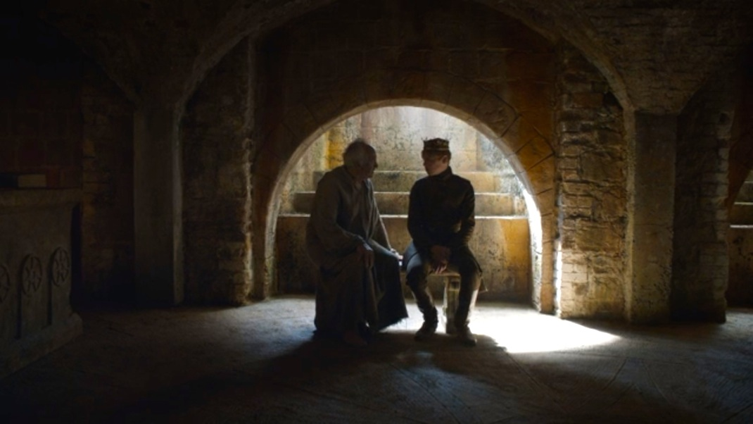 The High Sparrow and Tommen in GOT 603