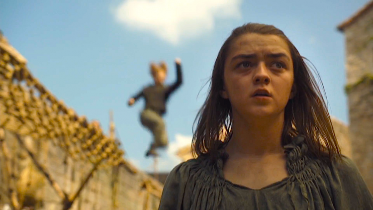 Arya (Maisie Williams) in GOT 6x08 - No One