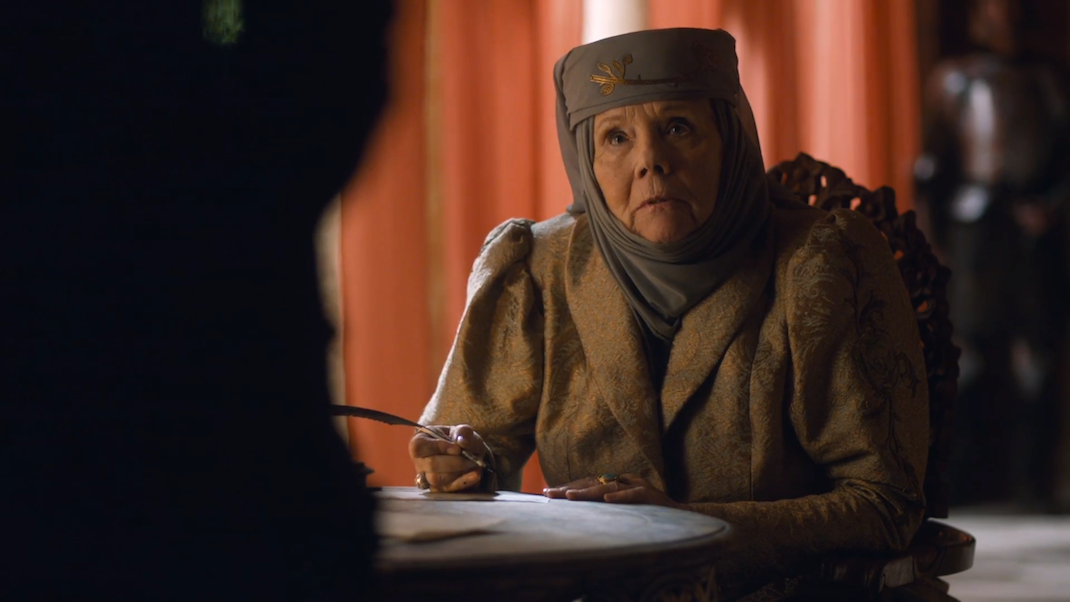 Olenna Tyrell (Diana Rigg) in GOT 6x07
