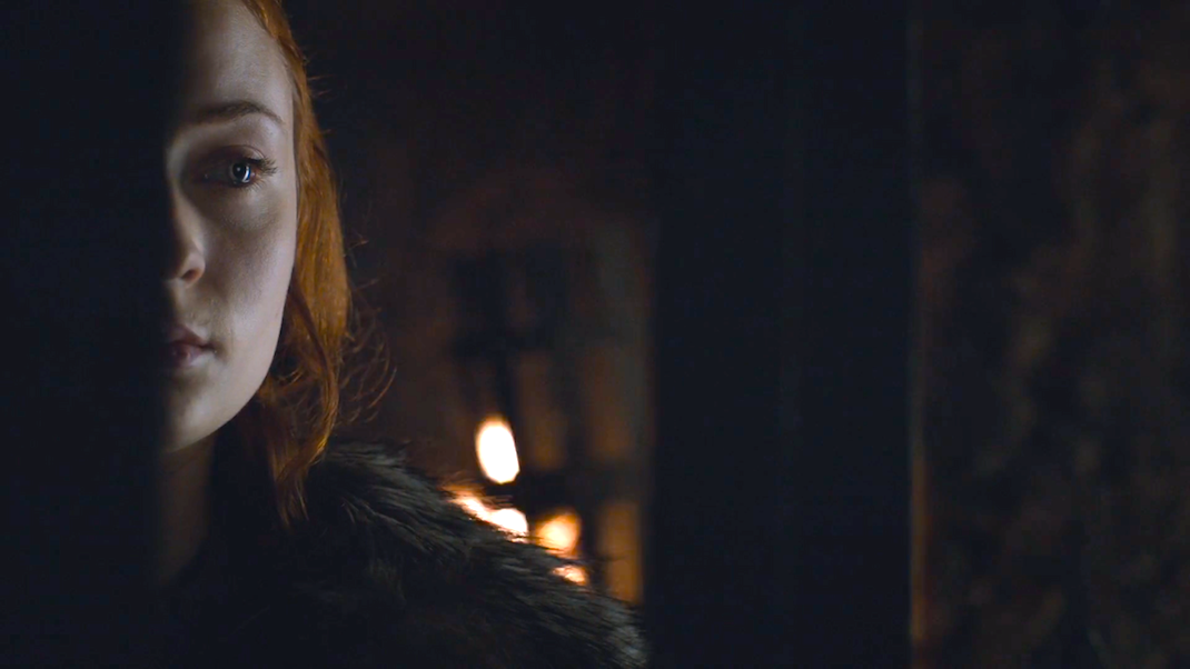 Sansa Stark (Sophie Turner) in GOT 6x09