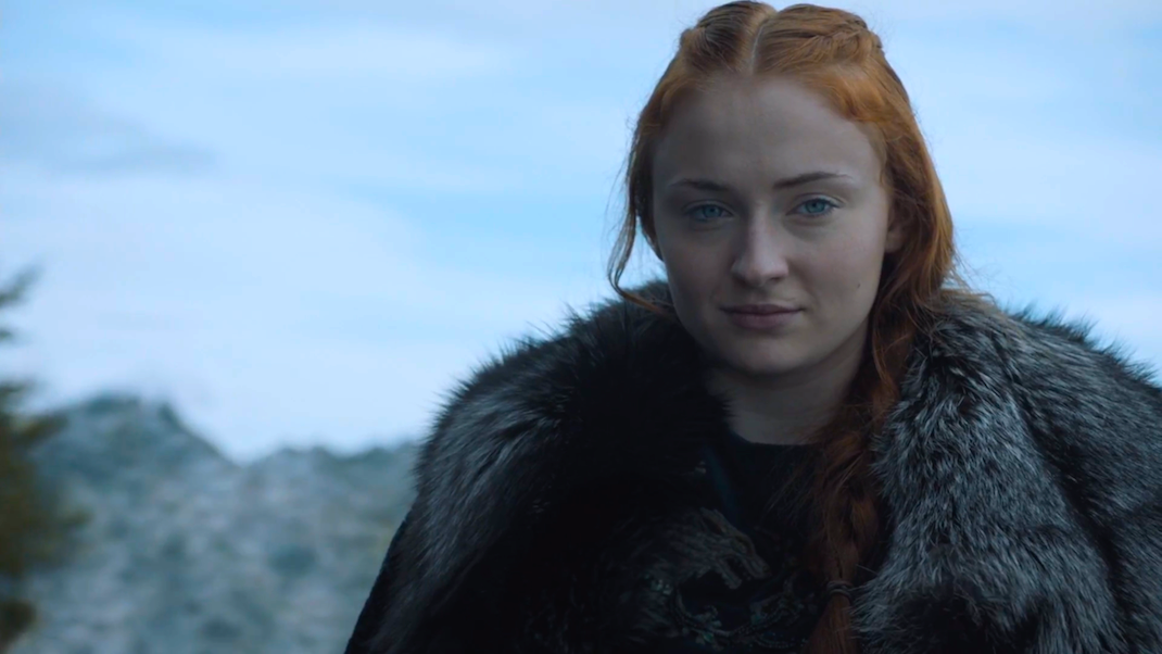 """Sansa Stark (Sophie Turner) in """"The Battle of the Bastards"""""""