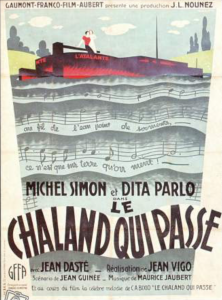 Poster for the edited version of L'Atalante, now entitled Le Chaland qui Passe. (Image from unifrance.org.)