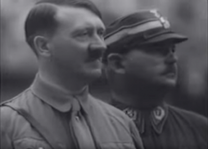 Adolf Hitler and Ernst Rohm in The Victory of Faith