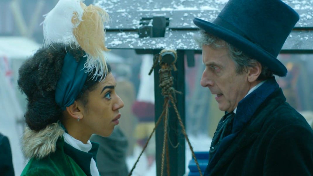 Bill (Pearl Mackie) and the Doctor (Peter Capaldi) in Thin Ice