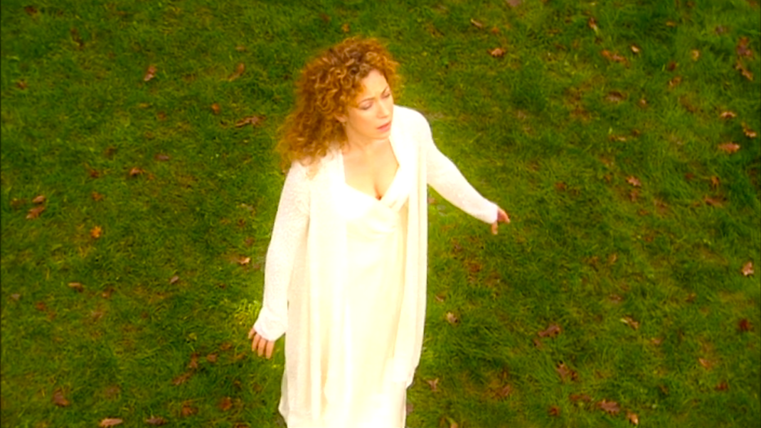 River Song (Alex Kingston) in THE FOREST OF THE DEAD