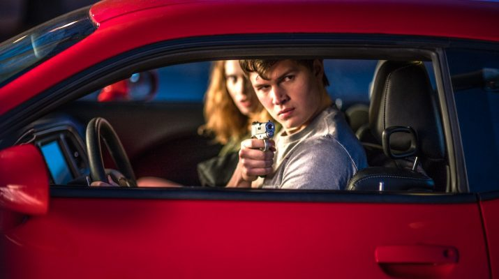 Ansel Elgort and Lily James in BABY DRIVER