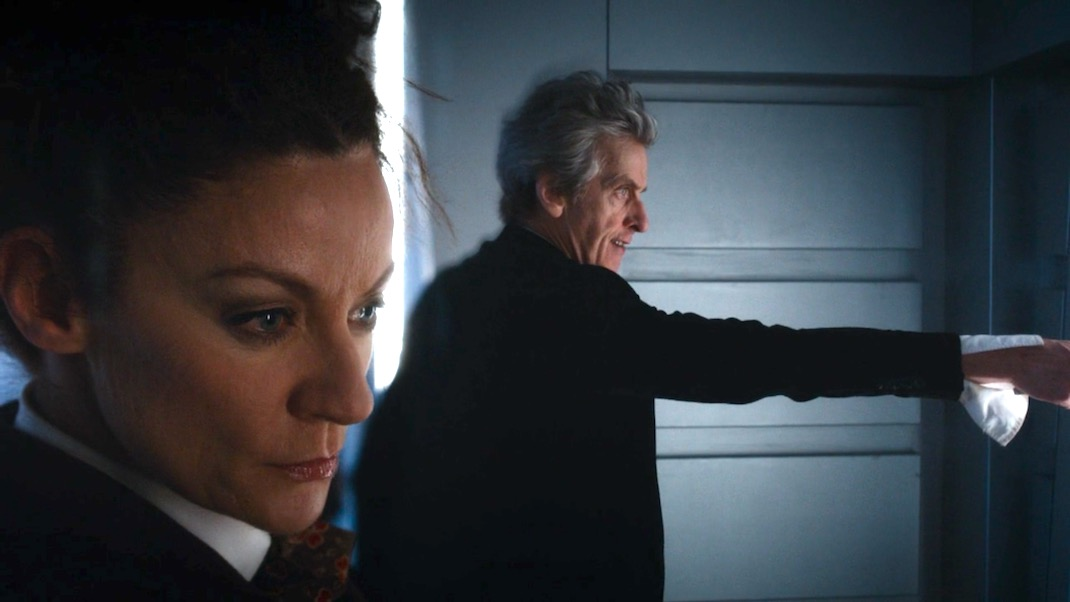 Michelle Gomez and Peter Capaldi in World Enough and Time