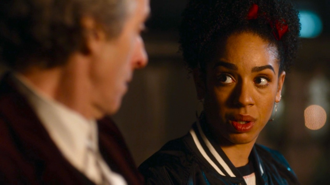 The Doctor and Bill in World Enough and Time