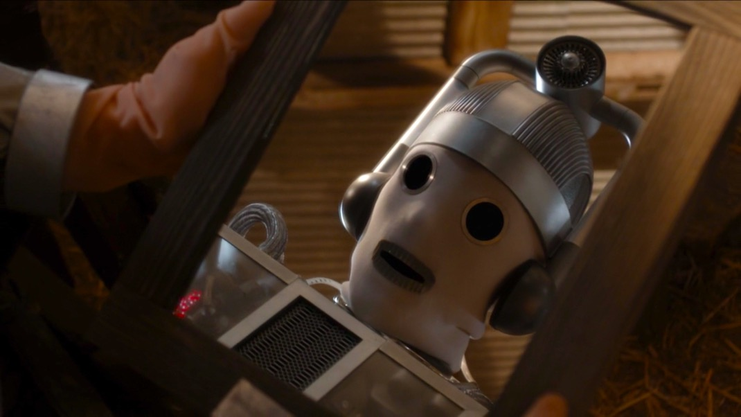 Bill the Cyberman in THE DOCTOR FALLS