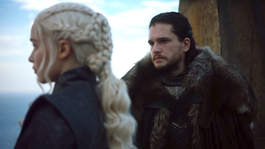 Dany and Jon in The Queen's Justice