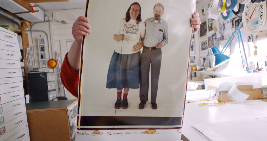 Elsa Dorfman and Allan Ginsberg, from The B-Side: Elsa Dorfman's Portrait Photography
