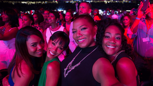 Regina Hall, Jada Pinkett Smith, Queen Latifah, and Tiffany Haddish in GIRLS TRIP