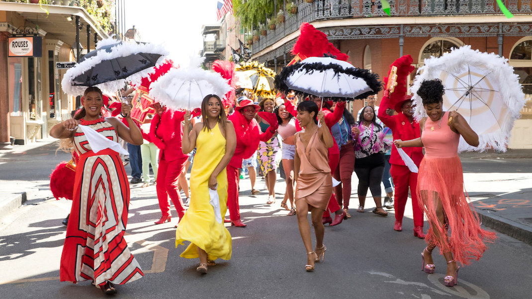 Queen Latifah, Regina Hall, Jada Pinkett Smith, and Tiffany Haddish in GIRLS TRIP