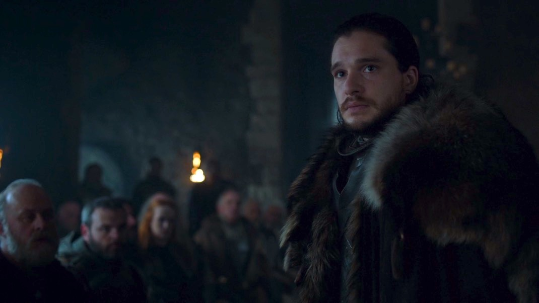 Jon Snow (Kit Harington) in GAME OF THRONES 7X02 - STORMBORN