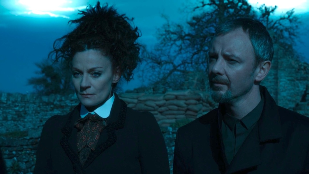 Michelle Gomez and John Simm in The Doctor Falls