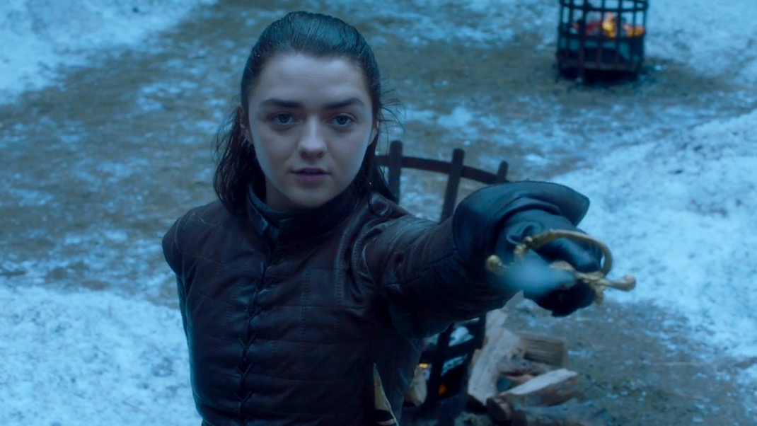 Arya duels Brienne in GOT 7x04 - The Spoils of War