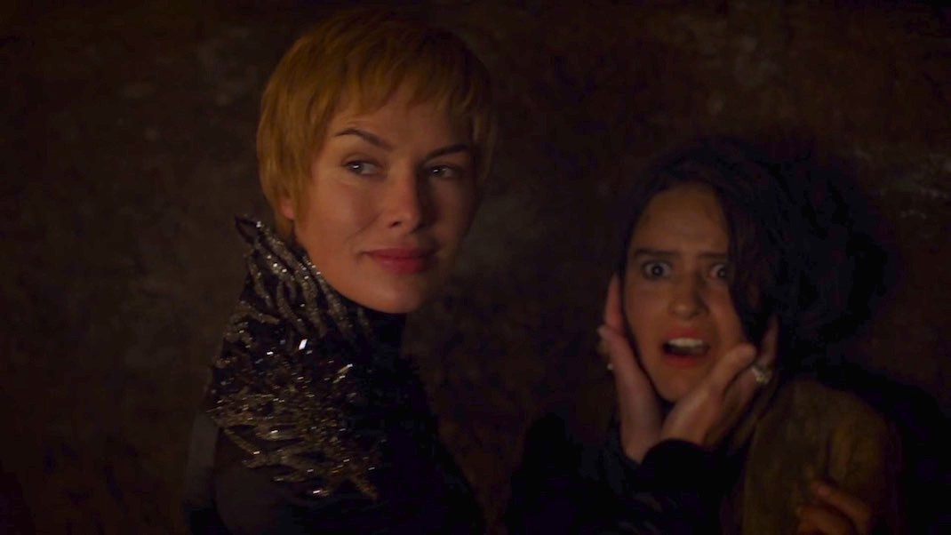 Cersei (Lena Headey) and Tyene (Rosabell Laurenti Sellers) in GAME OF THRONES 7X03 - THE QUEEN'S JUSTICE