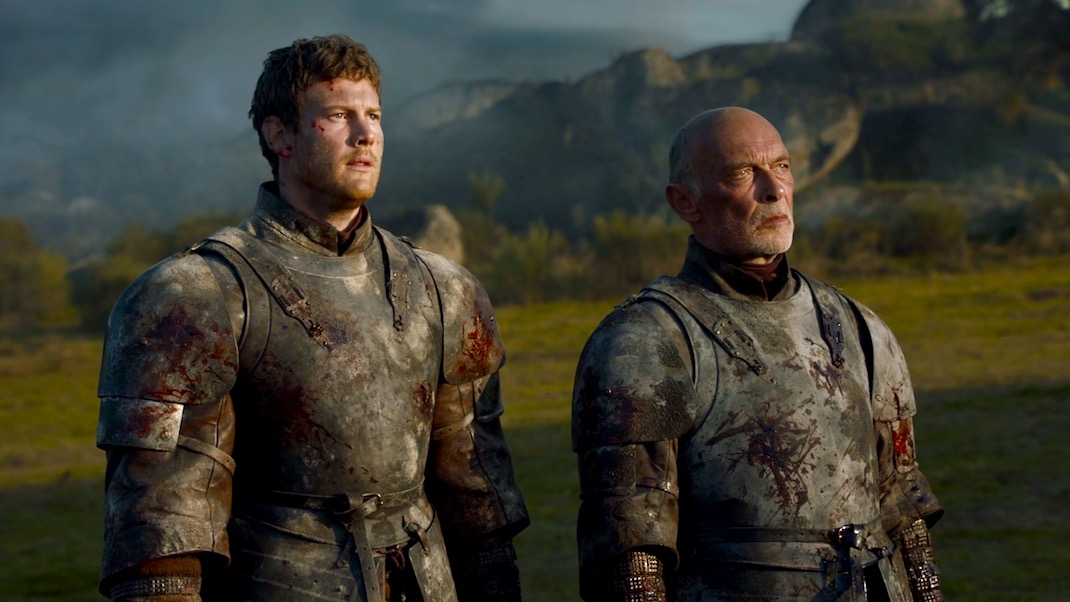 Dickon (Tom Hopper) and Randyll Tarly (James Faulkner) in GOT 7x05 - Eastwatch