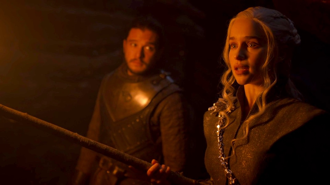 Jon and Dany in GOT 7x04 - The Spoils of War