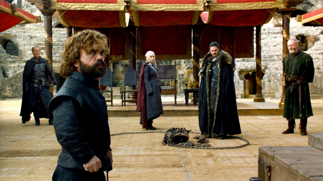 Jorah, Tyrion, Dany, Jon, and Davos in GOT 7x07 - The Dragon and the Wolf