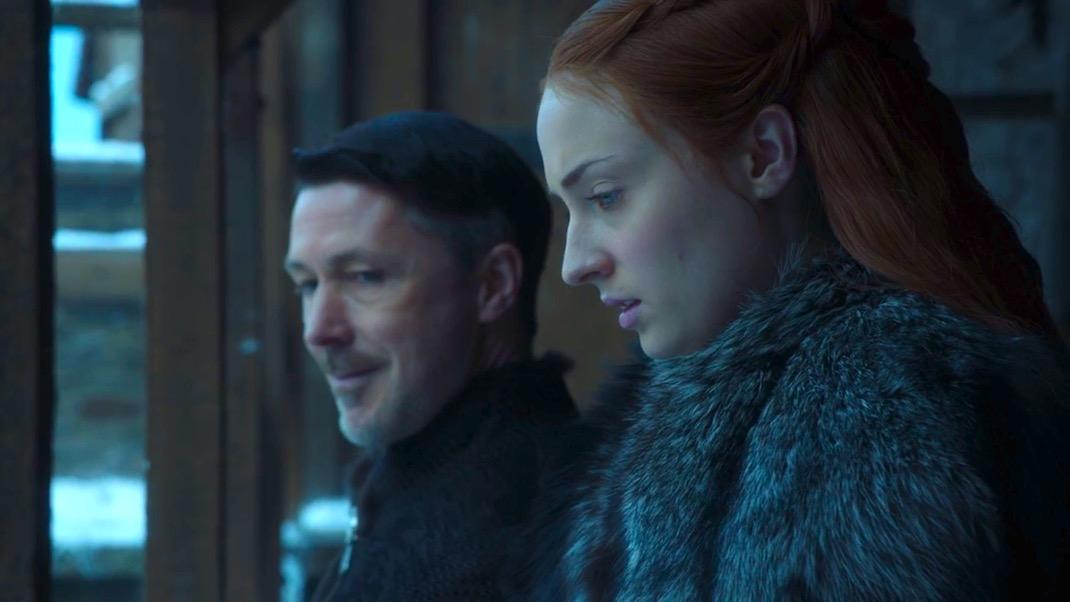 Littlefinger and Sansa in GOT 7x04 - The Spoils of War