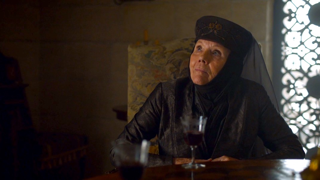Olenna Tyrell (Diana Rigg) in GAME OF THRONES 7x03 - The Queen's Justice
