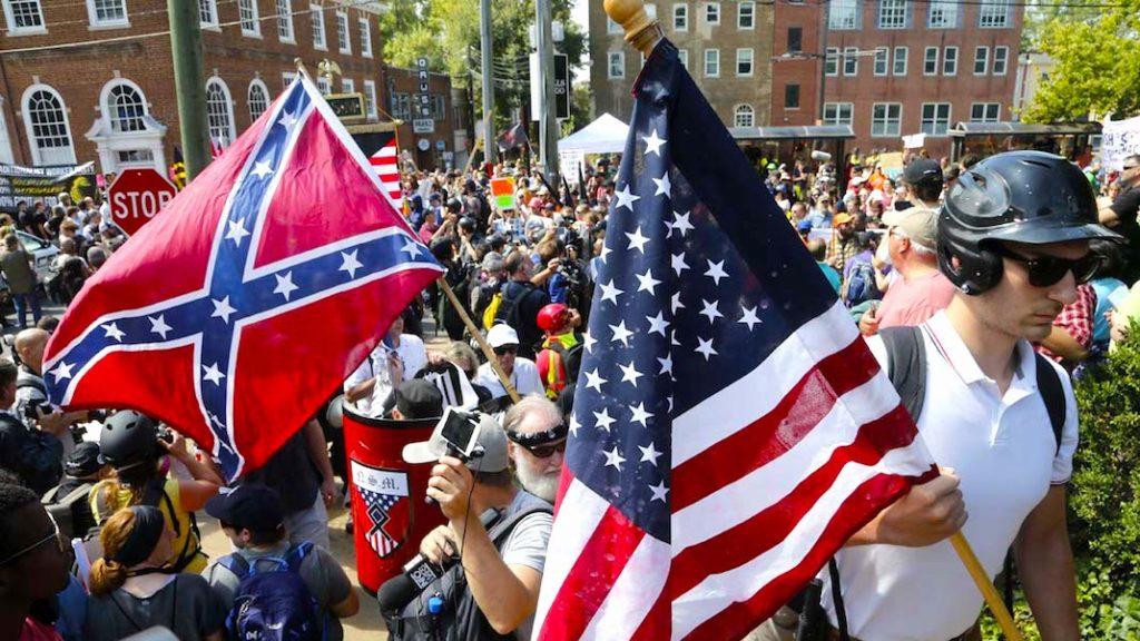 Charlottesville, Va., Saturday, Aug. 12, 2017. (AP Photo/Steve Helber)
