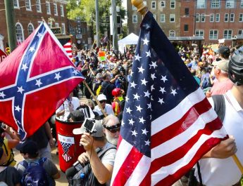 Charlottesville, Va., Saturday, Aug. 12, 2017. (AP Photo/Steve Helber)
