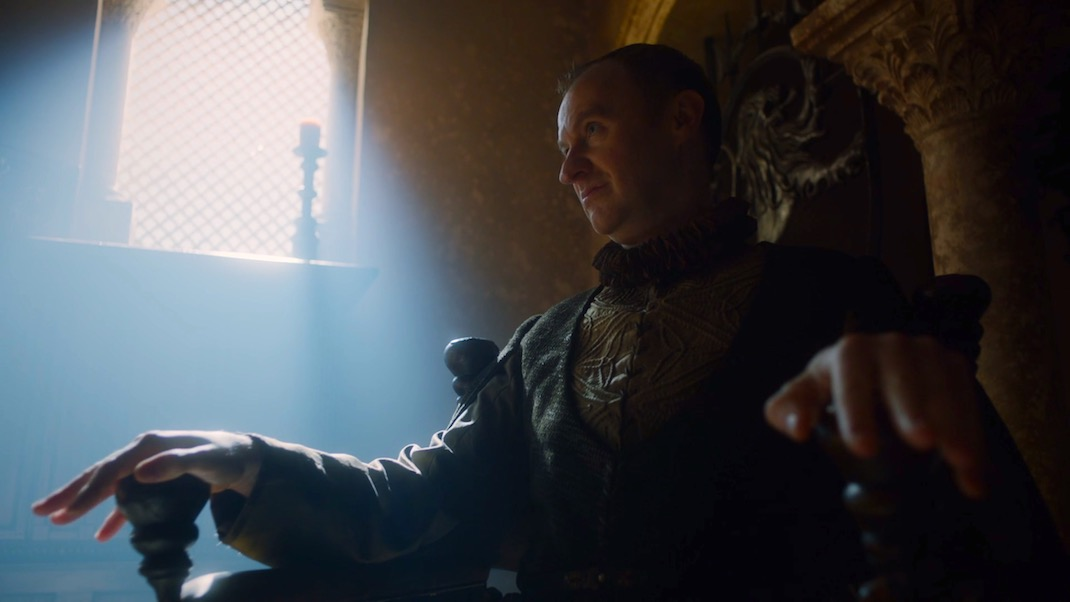 Tycho (Mark Gatiss) in GAME OF THRONES 7X03 - THE QUEEN'S JUSTICE